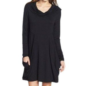 KENSIE / Draped Cowl Neck French Terry Dress